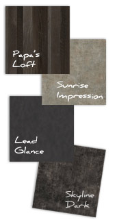 Industrial Chic - Papa's Loft, Sunrise Impression, Lead Glance, Skyline Dark - Great for kitchen design